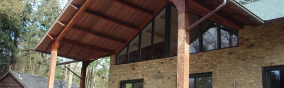Western Red Cedar veranda overkapping Cedarland