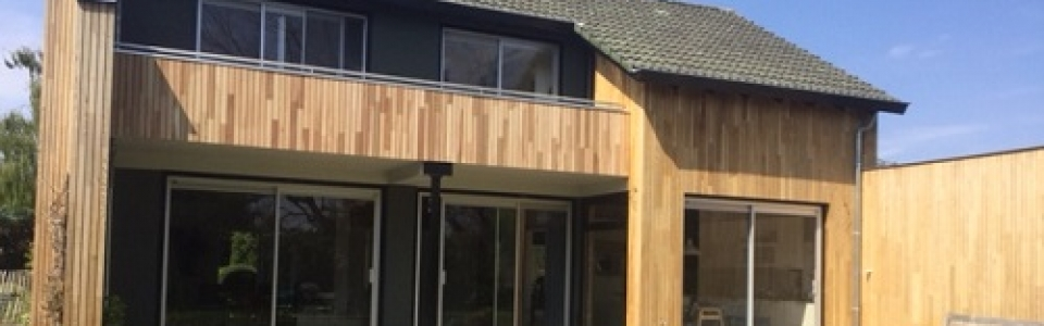 Western Red Cedar No.2 Clear and Better open gevelsysteem