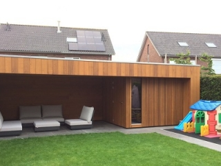 Western Red Cedar No.2 Clear and Better open gevelsysteem natural